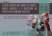 Conferência: A edição das obras de Marx e Engels e a releitura da crítica da economia política