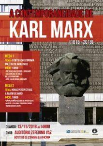 A Contemporaneidade de Karl Marx - 1818-2018